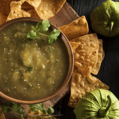 **Slow Cooker Tomatillo Salsa Verde