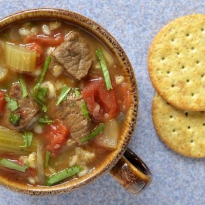 **Slow Cooker Beef and Barley Soup