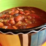 **Slow Cooker Ground Turkey Three Bean Chili