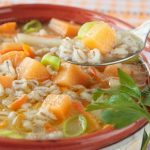 ** Slow Cooker Vegetarian Barley Soup