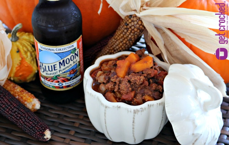 Slow Cooker Blue Moon Harvest Pumpkin Chili