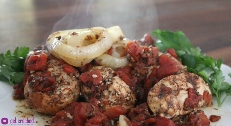 *** Slow Cooker Easy Tomato & Balsamic Chicken