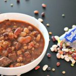 Slow Cooker 15 Bean Tomato & Beef Soup