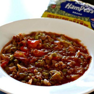 ***Slow Cooker Split Pea Sausage Soup
