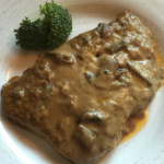 Slow Cooker Creamy Mushroom Round Steak