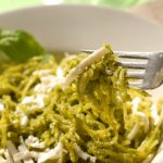 Slow Cooker Spaghetti Squash with Pesto