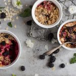 Slow Cooker Triple Berry Crisp