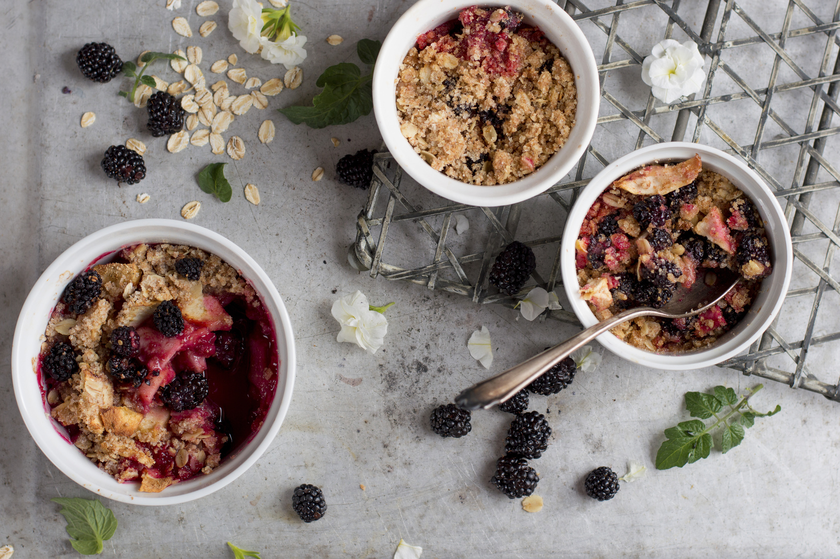 **Slow Cooker Triple Berry Crisp