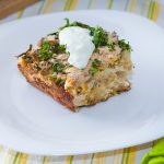 Slow Cooker Sausage & White Cheddar Breakfast Casserole